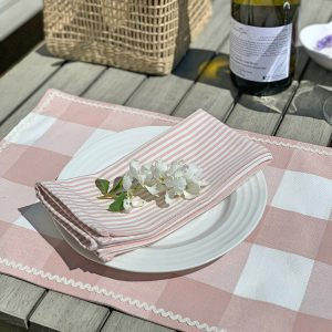 Studio Blackwell Rose Placemat and Napkin