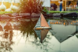 Studio Blackwell Fabric of Summer Boat