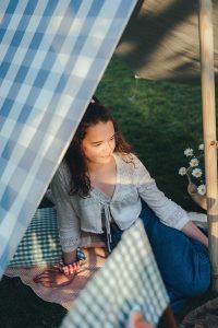 Studio Blackwell Fabric of Summer Tucker Cloth Shelter Evening