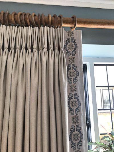 Studio Blackwell Triple pleat curtains