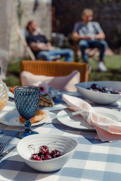 Studio Blackwell Fabric of Summer Table Setting, Tuckercloth & Napkins